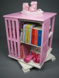 Tralierooster Boekenmolen Wit en Roze Blad 46 cm