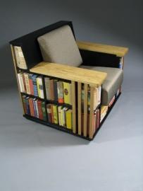 Zwarte Bookchair  'accent' eiken