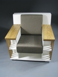 Witte Bookchair 'accent' eiken