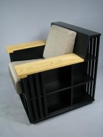 Zwarte Bookchair  'accent' zwart