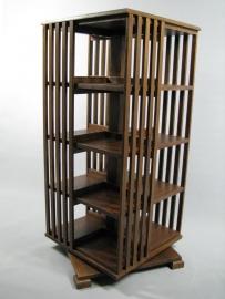 Hoge 'Midden' Eiken boekenmolen 2-4 etages Blad 55cm