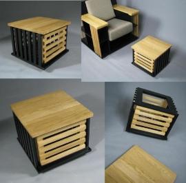 Lectuurbak / bijzettafelje passend bij Bookchair