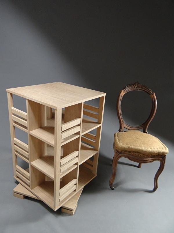 Gerari's Moderne Eiken boekenmolen 2-4 etages Blad 55 cm