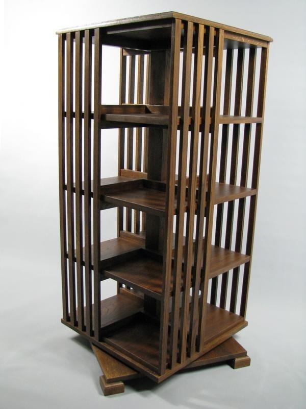 Hoge Eiken  boekenmolen 'in kleur' 2-4 etages Blad 55cm