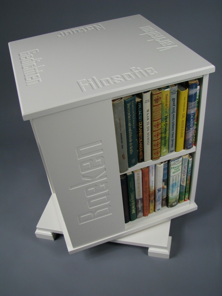 Boekenmolen wit