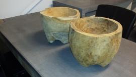 Wortel Houten Pot
