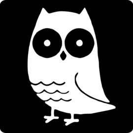 Sticker schoolbord - Uil / 20stk