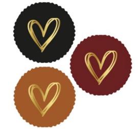 Sticker mix schulprand | fall - painted hart goud  9stk