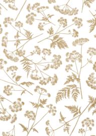 Vloeipapier - tissuepapier - dotted wildflower | gold | 50x70cm | 5stk