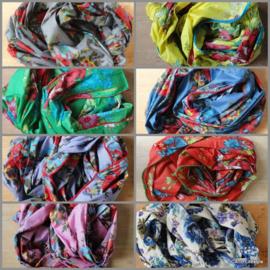 Sjaal | Bloemen wikkel | diverse kleuren