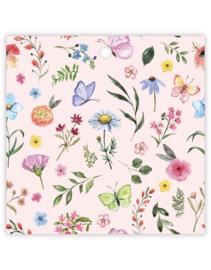 Cadeau kaartje | vierkant - bloemen | pstk