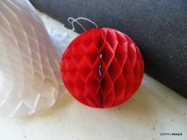 TI Honinggraad kerstbal rood