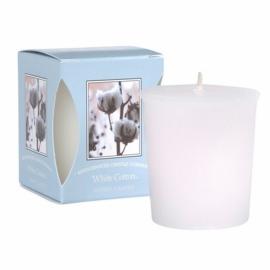 Geurkaarsje Votive Candle | White Cotton