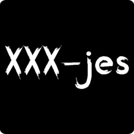 Sticker schoolbord  - XXX-jes / 20stk