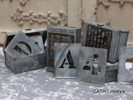 Sjabloon / letters / zinken / pstk