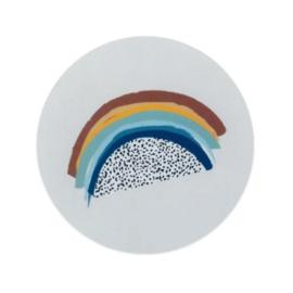 Sticker  - sluitzegels | regenboog blue | 5cm | 10stuks