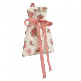 CE Geur zakje met roze strik roosjes