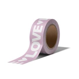 Washi Tape - LOVE | lila | 10m