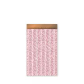 Kado zakjes new tracks | oud roze koper | 12x19cm | 5stk