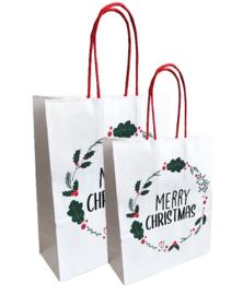 Cadeautasje | Christmas Blossom | 18x22cm | 2 stk