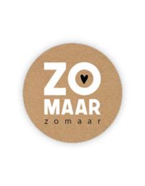 Sticker - rond kraft - ZOMAAR zomaar | 35mm | 10stk