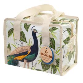 tasje / Pauw  - Peacock / klein formaat lunchbag