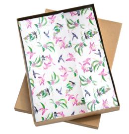 Vloeipapier - tissuepapier - Colibrie - 50x70cm | 5stk