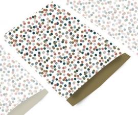 Zakjes | Confetti goud | 12x19cm | 5stk