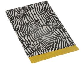Kado zakjes Zebra | 25 x 34 x 4cm XL | 5stk