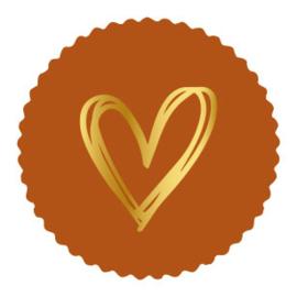 Sticker terra schulprand | painted hart goud | 9stk