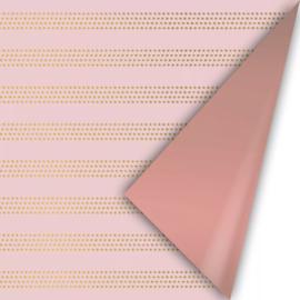 Inpakpapier kadopapier - raster stripes warm | 30cmx2m