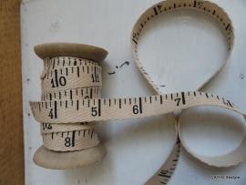 Twill katoen band / meetlint  / per meter / CI