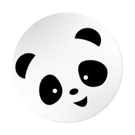 Stickers rond wit - Panda | 45mm | 20stk