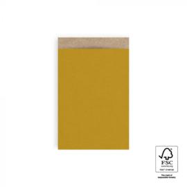 Zakjes | kraft | oker geel | 12x19cm | 5 stk