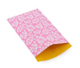 Kado zakjes - Flowers bubbly pink | 17 x 25cm | 5 stk