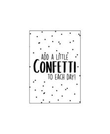 Mini - kaartje | Add a little confetti