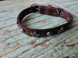 BIBA Armband / leer bruin met ster