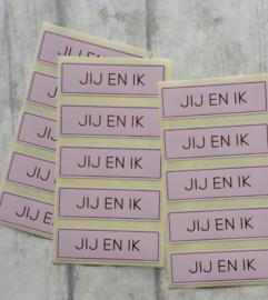 Stickers / Jij en Ik / 10stk