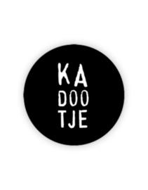 Sticker rond zwart Ka doo tje | 35mm | 10stk