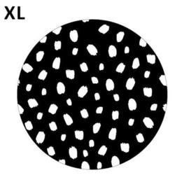 Sticker rond | 101 dots - zwart/wit | 65mm | 5stk