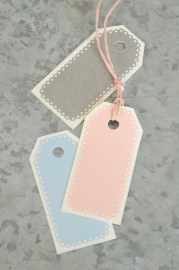 Labels / tags pastels / 10 stks