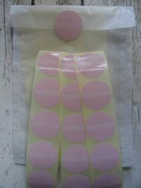 Stickers / rond kadootje roze / 40 stks