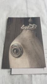 Ansichtkaart / oude paspop / nostalgische