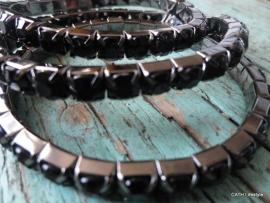 BIBA Armband / met steentjes zwart