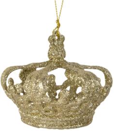 Kroon | goud glitter | hanger