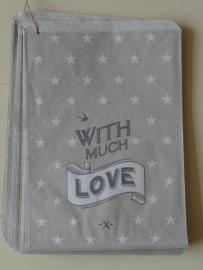 Zakjes groot grijs | With much Love | 5s tk