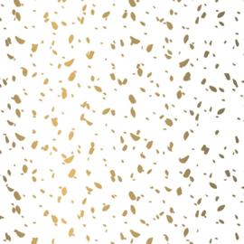Vloeipapier - tissuepapier | wit met goud opdruk sow | 50x70cm | 5stk