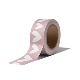 Washi Tape - Ethnic Hearts | roze | 10m