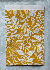 Zakjes botanic garden / curry yellow / Geertje Aalders / 17 x 25 cm