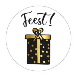 Sticker sluitzegel wit rond - feest/cadeautje | 45mm | 10stk